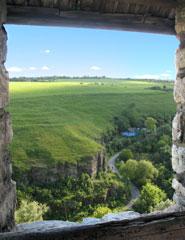 Вид из окна Каменец-Подольской крепости.