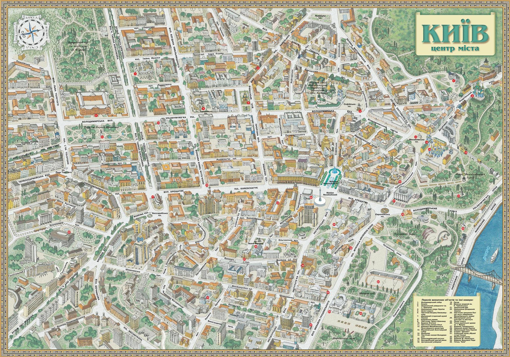 Исторические карты Киева c Х века до наших дней