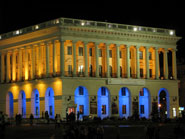 Conservatoire. Independance square in the evening, Kiev