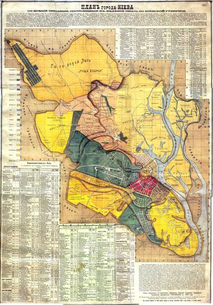Карта Киева 1902
